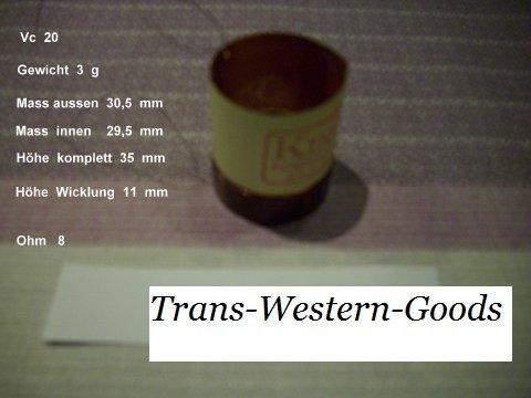 """VC 20  voice coil    29,5 mm  8 OHM – 1,16 """" 1"""