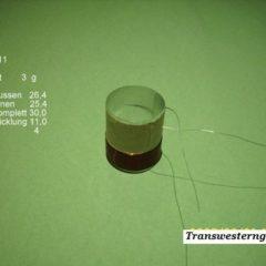 """VC 11  voice coil  25,40 mm   4 OHM - 1,0 """""""