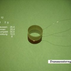 """VC 12  voice coil   25,40 mm   8 OHM - 1,0 """""""