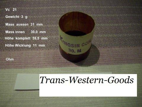 """VC 21  voice coil   30,0 mm  8 OHM – 1,18 """" 1"""