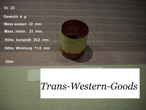 """VC 23  voice coil   31,0 mm  4 OHM – 1,22 """" 1"""