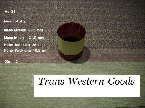 """VC 24  voice coil   31,5 mm  8 OHM – 1,24 """" 1"""