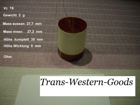 """VC 19  voice coil   27,2 mm  4 OHM – 1,07 """" 1"""