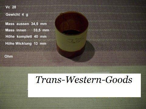 """VC 28  voice coil   33,5 mm  8 OHM  – 1,32 """" 1"""