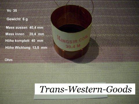 """VC 35  voice coil  39,4 mm  8 OHM  – 1,55 """" 1"""