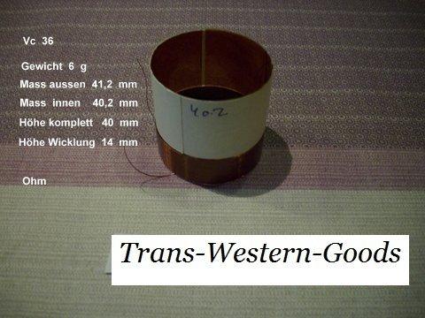 """VC 36  voice coil    40,2 mm  8 OHM  – 1,58 """" 1"""
