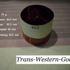 """VC 50  voice coil     63,3 mm  8 OHM  - 2,49 """""""