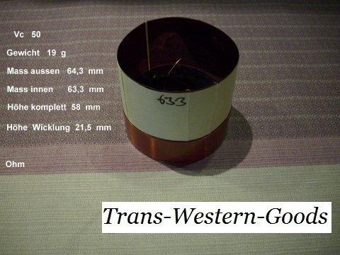 """VC 50  voice coil     63,3 mm  8 OHM  – 2,49 """" 1"""