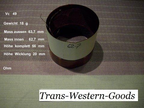 """VC 49  voice coil     62,7 mm  8 OHM  – 2,47 """" 1"""
