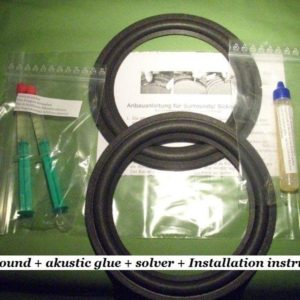 Peerless PT 210 M rings refoam set incl adhesive+remover