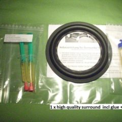 4,45 inch rings refoam set incl adhesive+remover BBE Kit